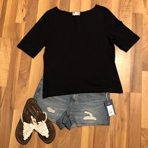 Cute black Talbots tee.